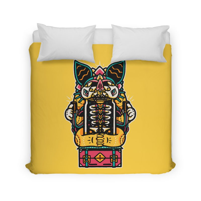 Temple Home Duvet by rasefour's Artist Shop