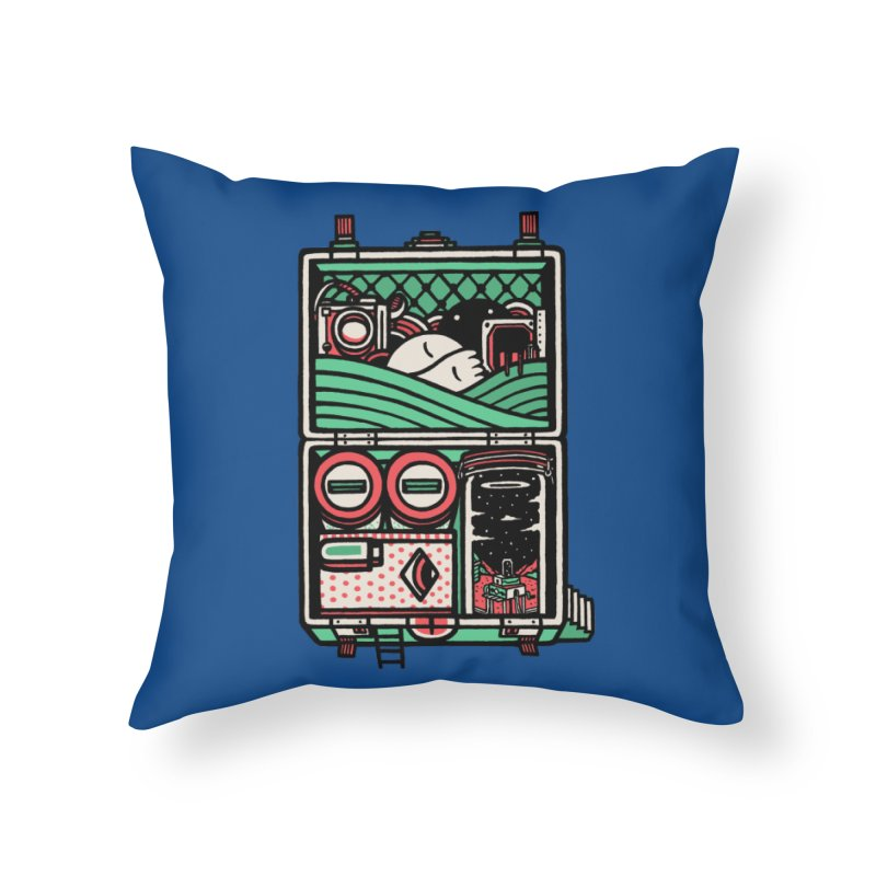Packing Home Throw Pillow by rasefour's Artist Shop
