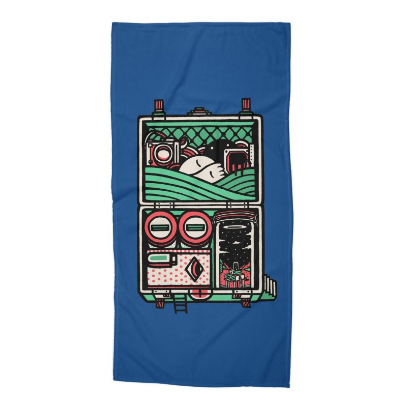 Packing Accessories Beach Towel by rasefour's Artist Shop