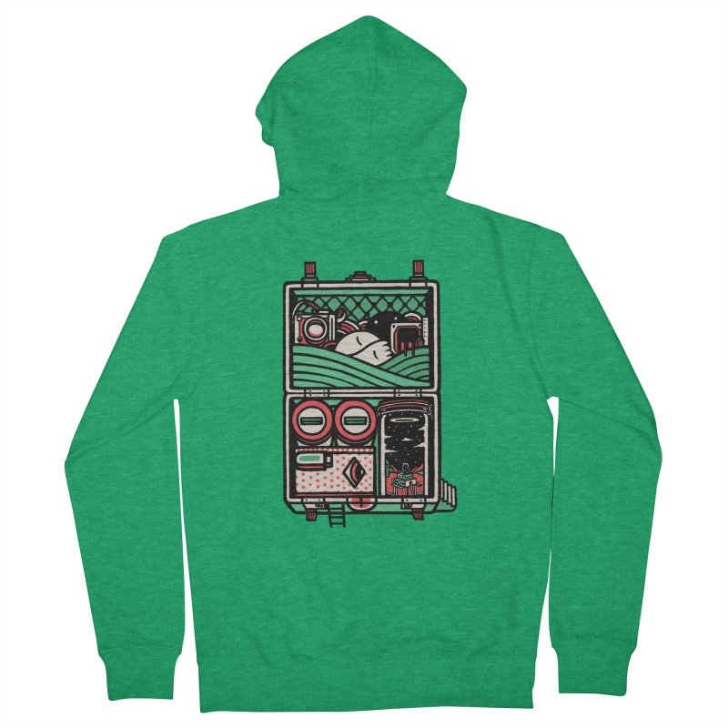 Packing Men's Zip-Up Hoody by rasefour's Artist Shop