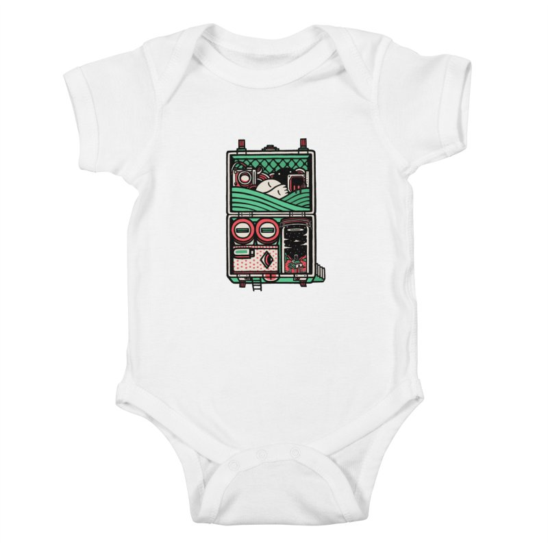 Packing Kids Baby Bodysuit by rasefour's Artist Shop