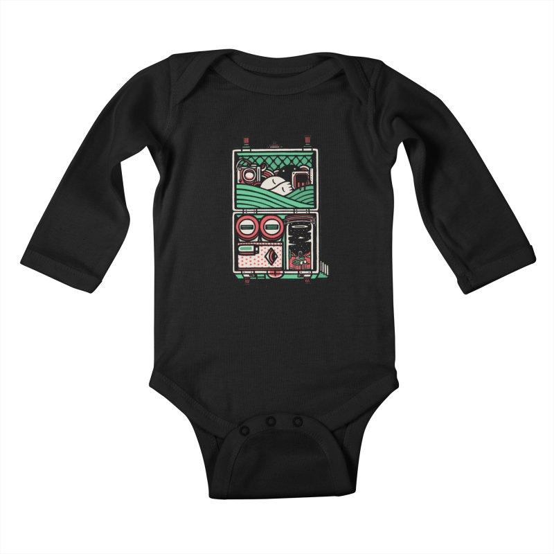 Packing Kids Baby Longsleeve Bodysuit by rasefour's Artist Shop