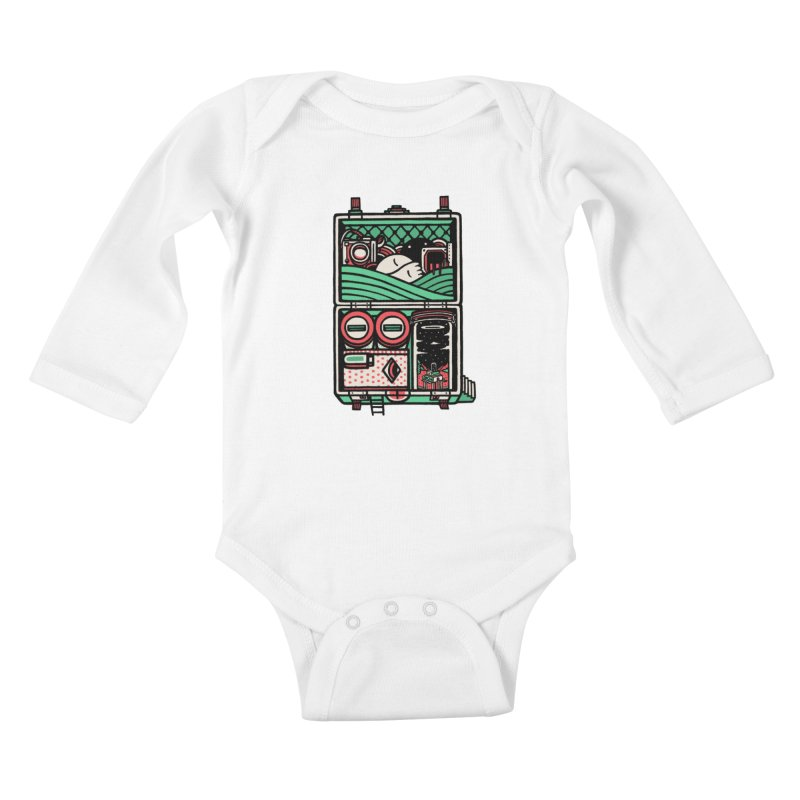 Packing Kids Baby Longsleeve Bodysuit by rasefour's Artist Shop