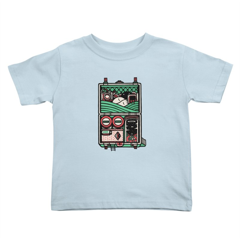 Packing Kids Toddler T-Shirt by rasefour's Artist Shop