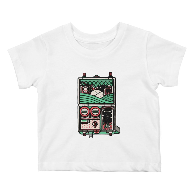 Packing Kids Baby T-Shirt by rasefour's Artist Shop