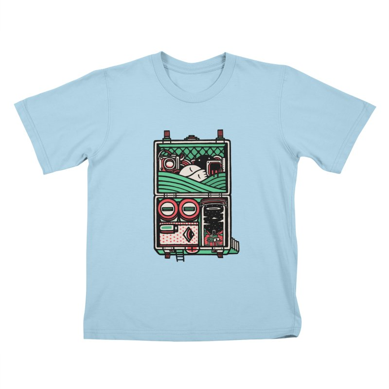 Packing Kids T-shirt by rasefour's Artist Shop