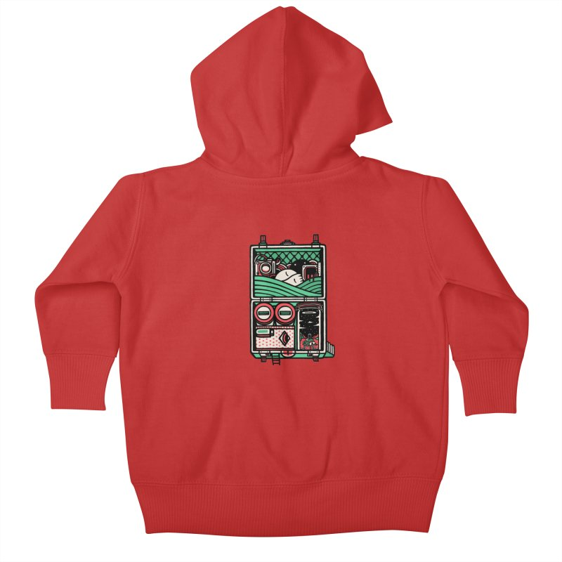 Packing Kids Baby Zip-Up Hoody by rasefour's Artist Shop