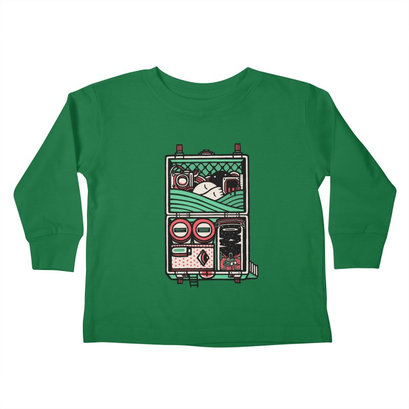 Packing Kids Toddler Longsleeve T-Shirt by rasefour's Artist Shop