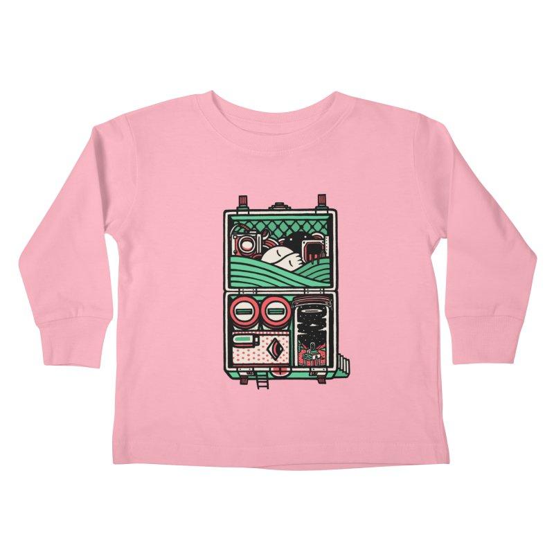 Packing Kids Toddler Longsleeve T-Shirt by rasefour's Artist Shop