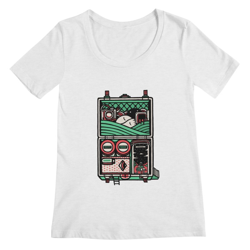 Packing Women's Scoopneck by rasefour's Artist Shop