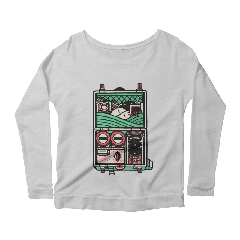 Packing Women's Longsleeve Scoopneck  by rasefour's Artist Shop
