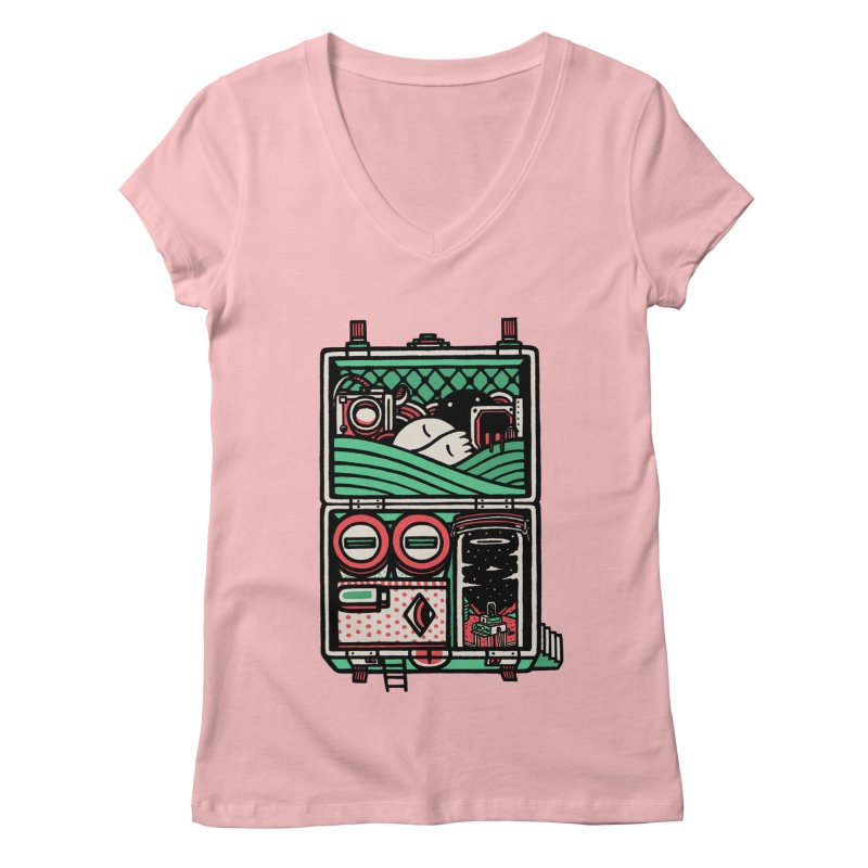 Packing Women's V-Neck by rasefour's Artist Shop