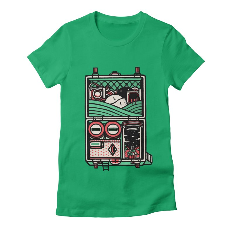 Packing Women's Fitted T-Shirt by rasefour's Artist Shop