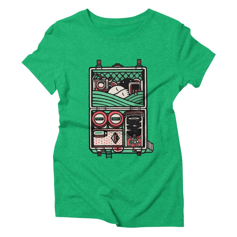 Packing Women's Triblend T-shirt by rasefour's Artist Shop