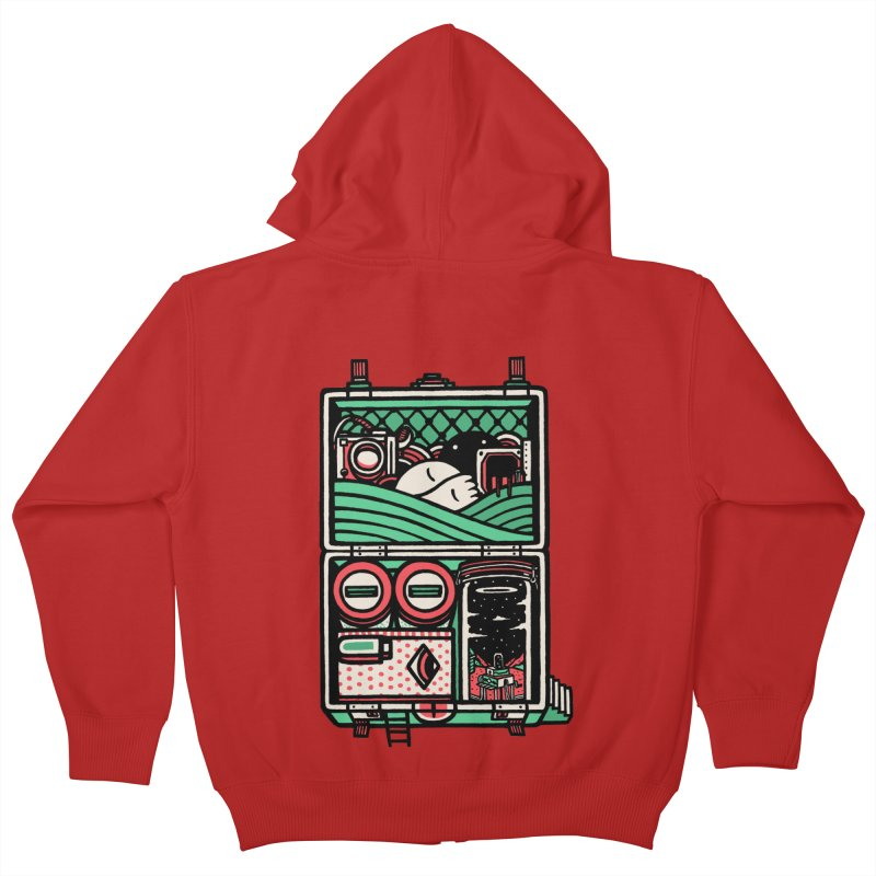 Packing Kids Zip-Up Hoody by rasefour's Artist Shop