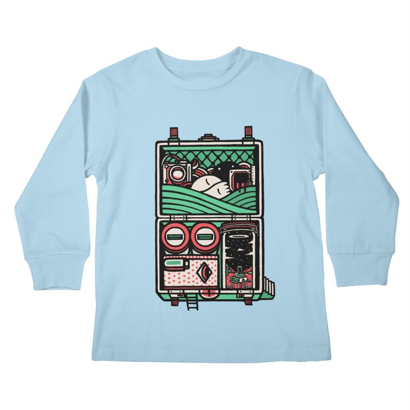 Packing Kids Longsleeve T-Shirt by rasefour's Artist Shop