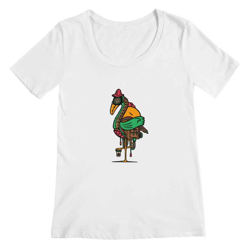 Birth Women's Scoopneck by rasefour's Artist Shop