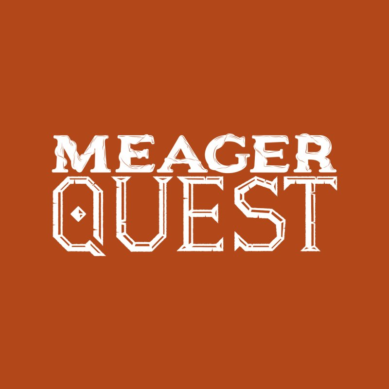 Meager Quest Logo - Single Color by Meager Quest Merch Store