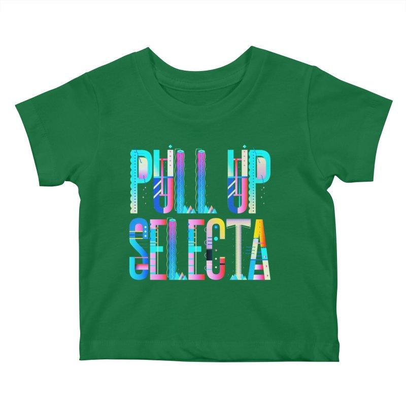 Pull Up Selecta Kids Baby T-Shirt by Rasta University Shop