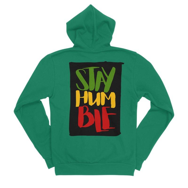 Stay Humble Women's Sponge Fleece Zip-Up Hoody by Rasta University Shop