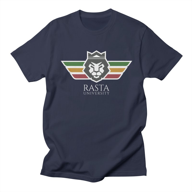 Lion Rasta University Logo (Light) in Men's Regular T-Shirt Navy by Rasta University Shop