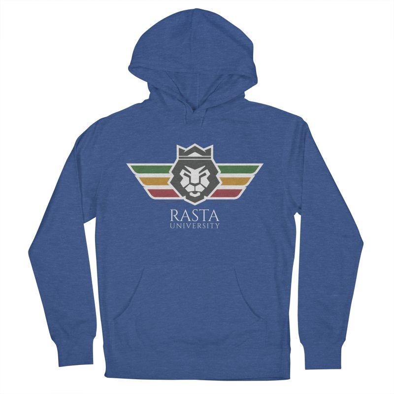 Lion Rasta University Logo (Light) Men's French Terry Pullover Hoody by Rasta University Shop