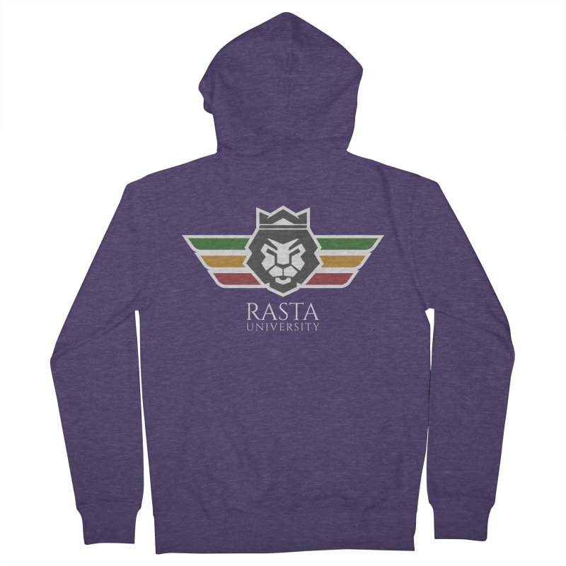 Lion Rasta University Logo (Light) Men's French Terry Zip-Up Hoody by Rasta University Shop