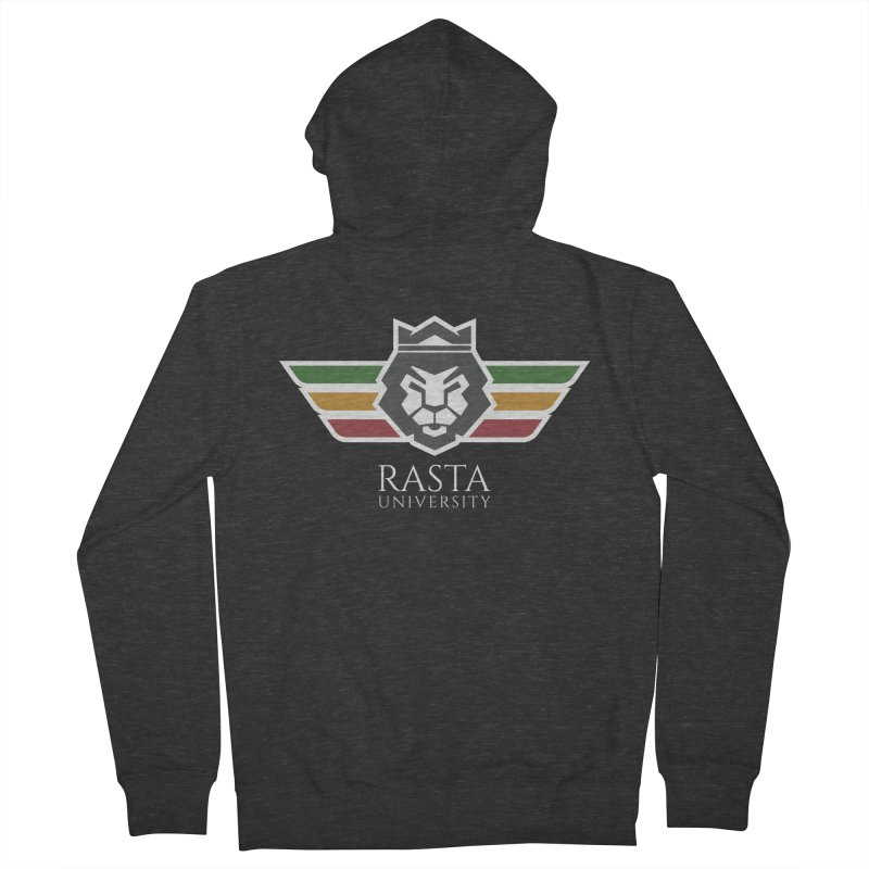 Lion Rasta University Logo (Light) Men's French Terry Zip-Up Hoody by Rasta University Shop