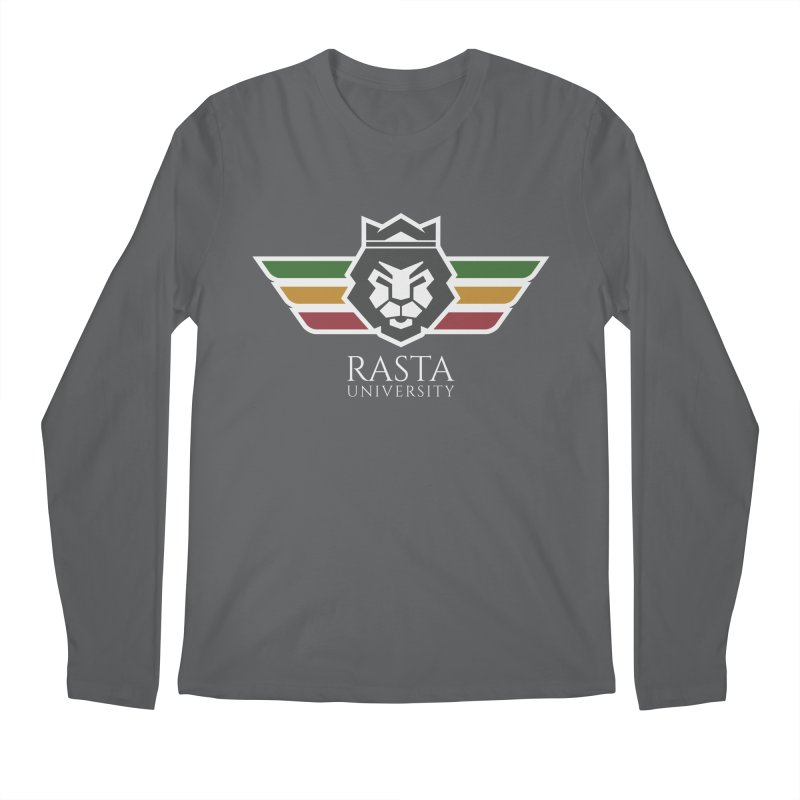 Lion Rasta University Logo (Light) Men's Regular Longsleeve T-Shirt by Rasta University Shop