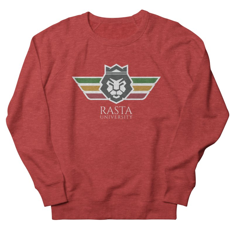 Lion Rasta University Logo (Light) Men's French Terry Sweatshirt by Rasta University Shop