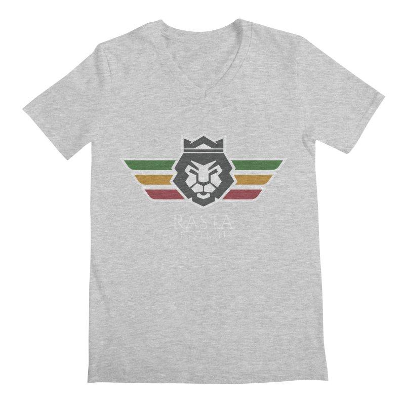Lion Rasta University Logo (Light) Men's Regular V-Neck by Rasta University Shop