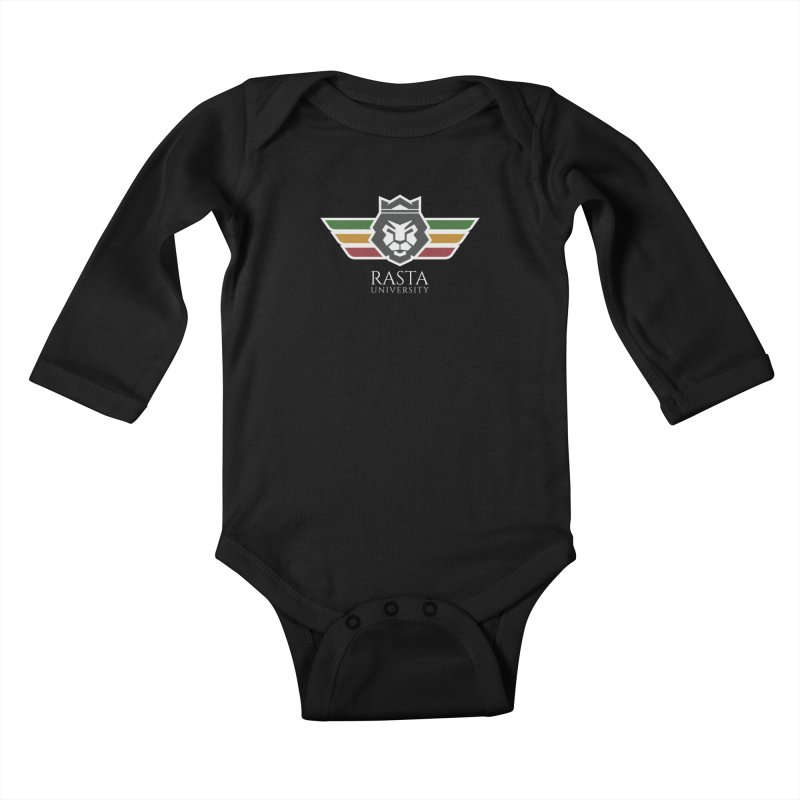 Lion Rasta University Logo (Light) Kids Baby Longsleeve Bodysuit by Rasta University Shop