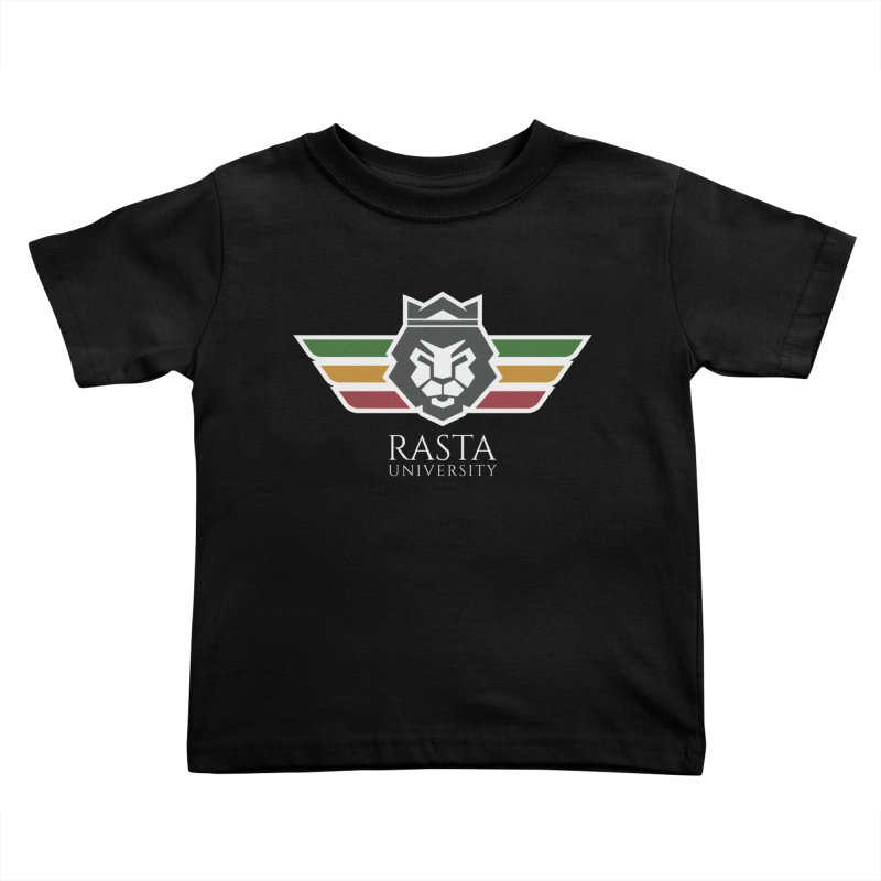 Lion Rasta University Logo (Light) Kids Toddler T-Shirt by Rasta University Shop