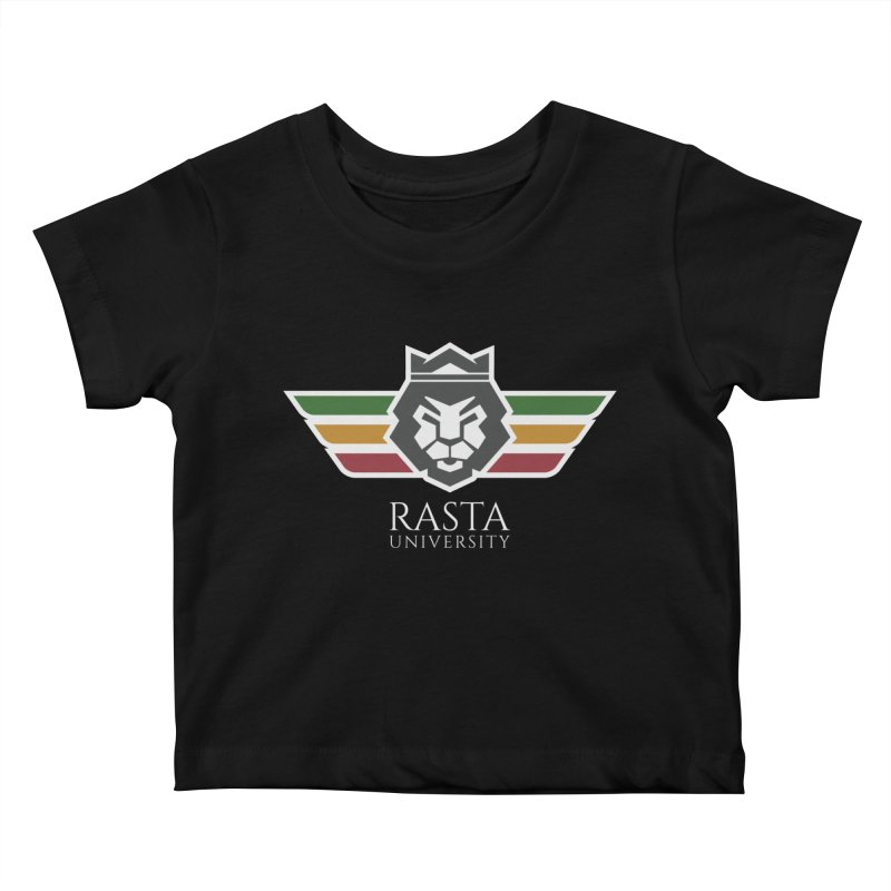 Lion Rasta University Logo (Light) Kids Baby T-Shirt by Rasta University Shop