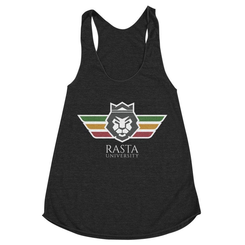 Lion Rasta University Logo (Light) Women's Racerback Triblend Tank by Rasta University Shop