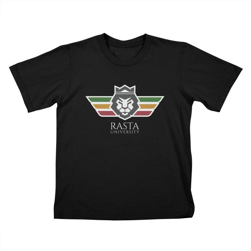 Lion Rasta University Logo (Light) Kids T-Shirt by Rasta University Shop