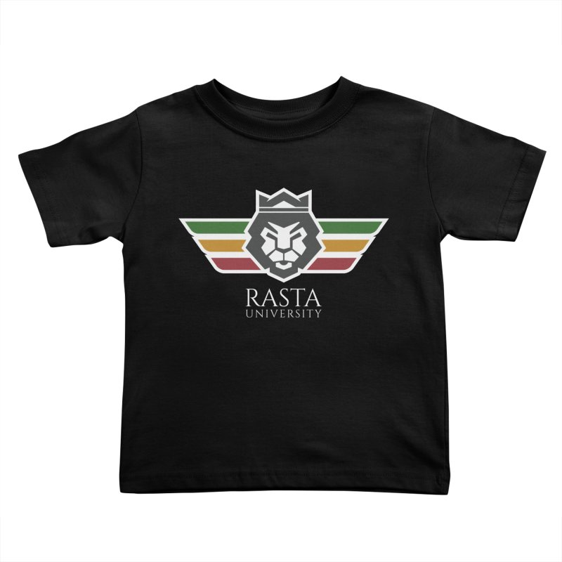Lion Rasta University Logo (Light) Kids Toddler T-Shirt by Rasta University Shop
