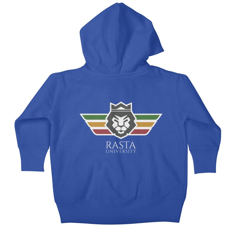 Lion Rasta University Logo (Light) Kids Baby Zip-Up Hoody by Rasta University Shop