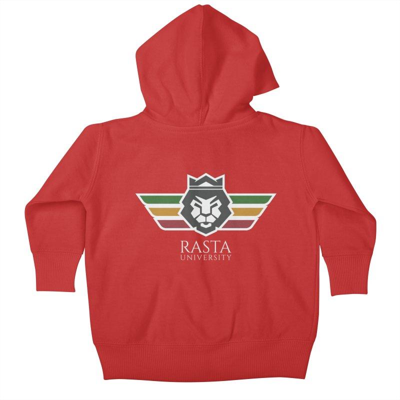 Lion Rasta University Logo (Light) Kids Baby Zip-Up Hoody by Rasta University Shop