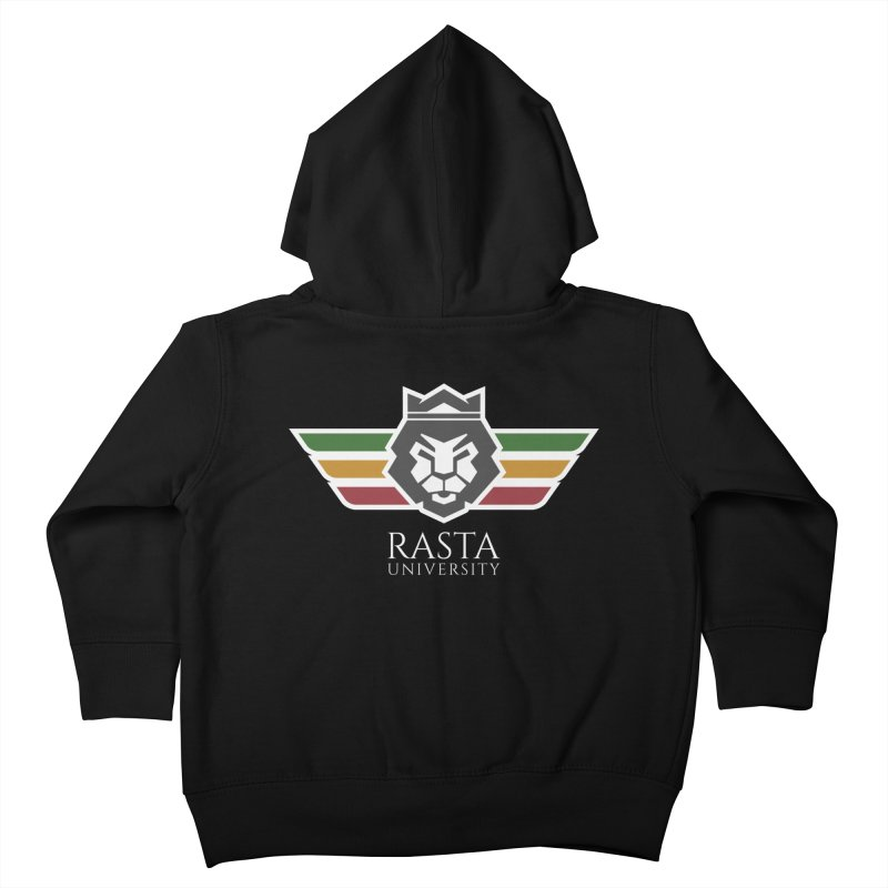 Lion Rasta University Logo (Light) Kids Toddler Zip-Up Hoody by Rasta University Shop