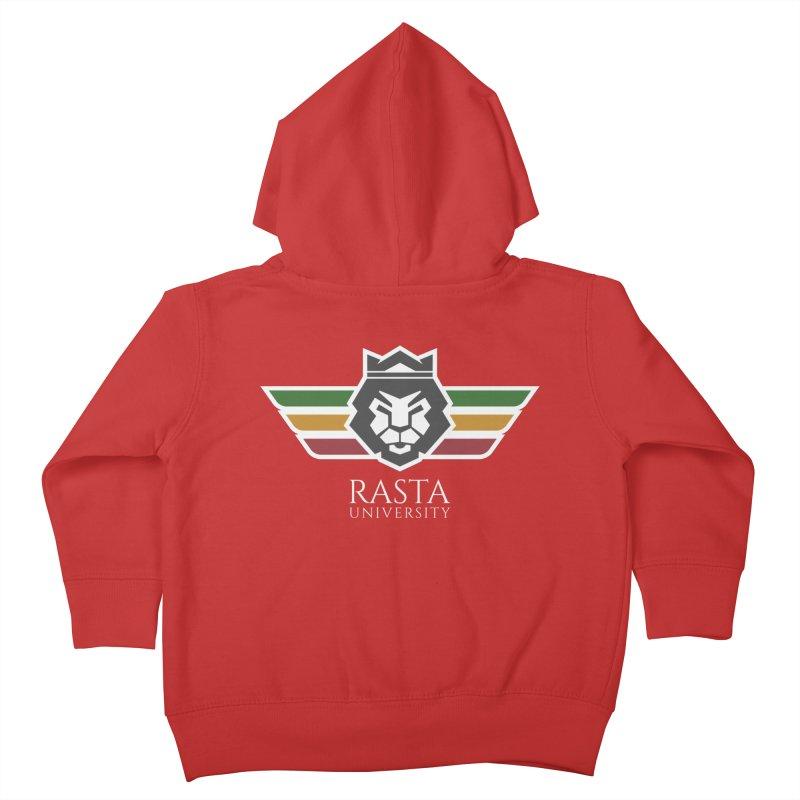 Lion Rasta University Logo (Light) Kids Toddler Zip-Up Hoody by Rasta University Shop