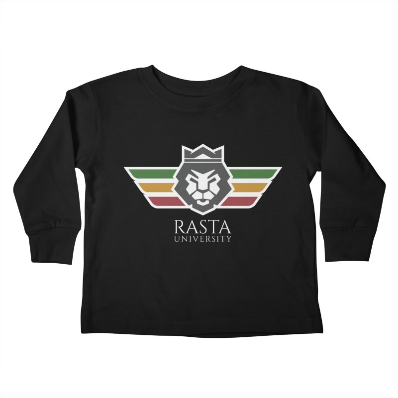 Lion Rasta University Logo (Light) Kids Toddler Longsleeve T-Shirt by Rasta University Shop
