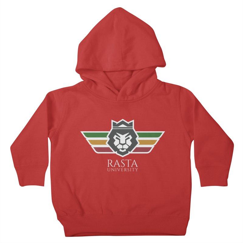 Lion Rasta University Logo (Light) Kids Toddler Pullover Hoody by Rasta University Shop