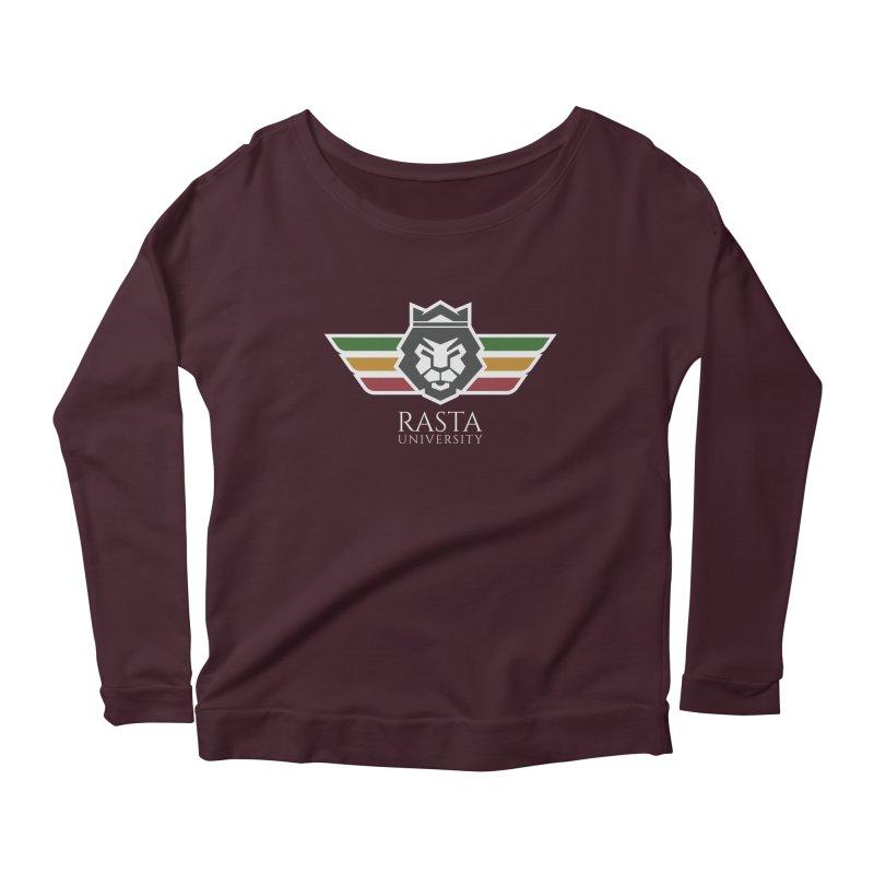 Lion Rasta University Logo (Light) Women's Scoop Neck Longsleeve T-Shirt by Rasta University Shop