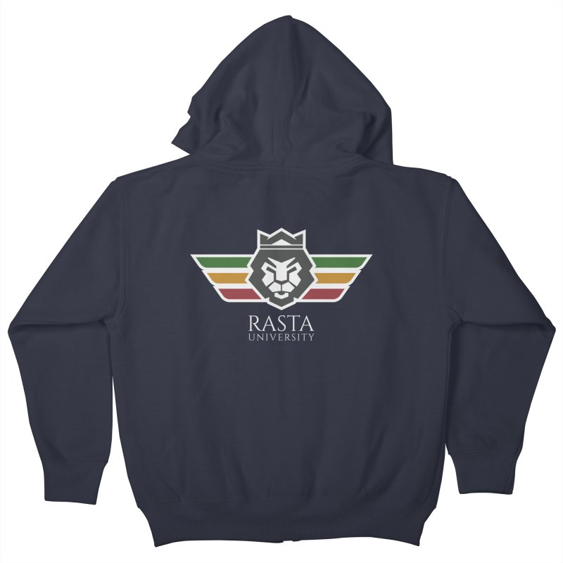Lion Rasta University Logo (Light) Kids Zip-Up Hoody by Rasta University Shop