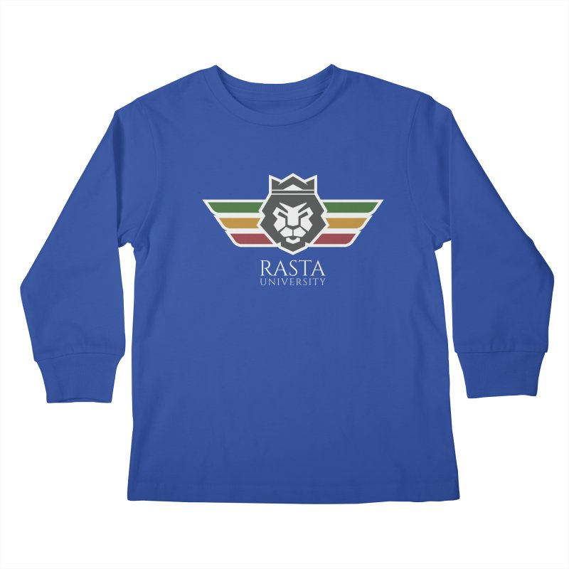 Lion Rasta University Logo (Light) Kids Longsleeve T-Shirt by Rasta University Shop