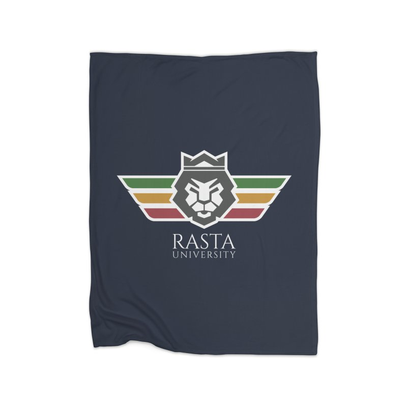 Lion Rasta University Logo (Light) Home Blanket by Rasta University Shop