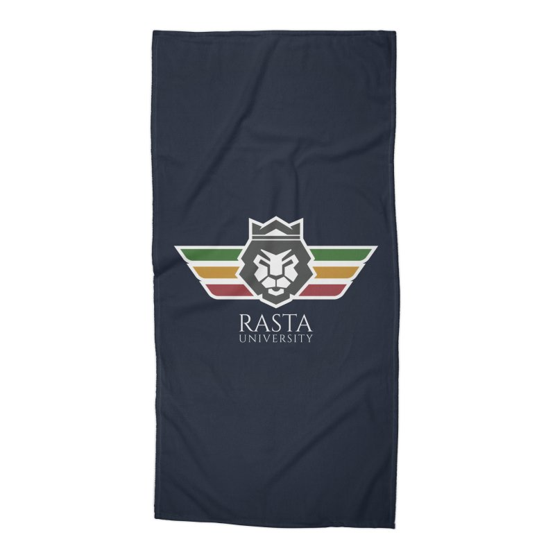 Lion Rasta University Logo (Light) Accessories Beach Towel by Rasta University Shop