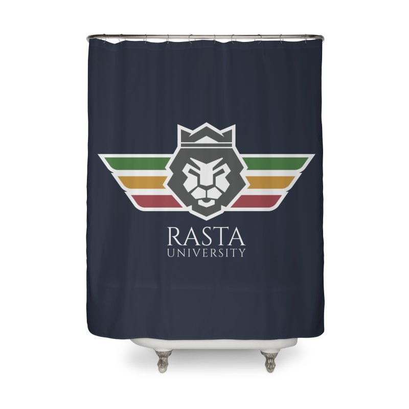 Lion Rasta University Logo (Light) Home Shower Curtain by Rasta University Shop