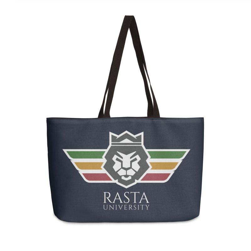 Lion Rasta University Logo (Light) Accessories Weekender Bag Bag by Rasta University Shop